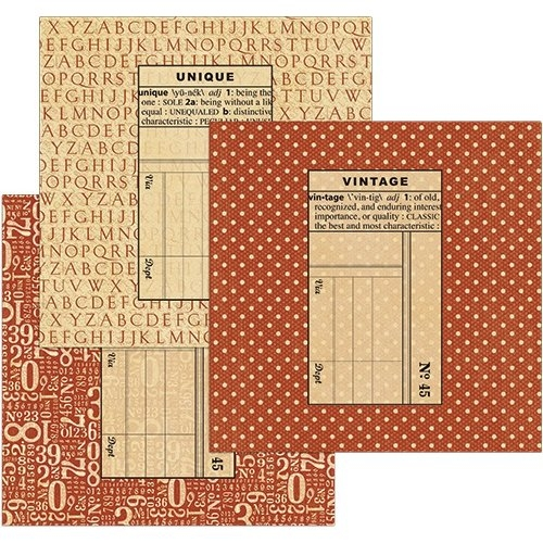 Graphic 45 - Staples Collection - Envelopes Quadrados Vermelho