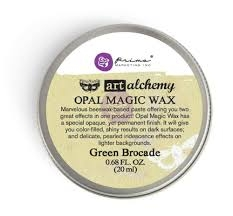 Art Alchemy-Opal Magic Wax-Green Brocade - Prima Marketing
