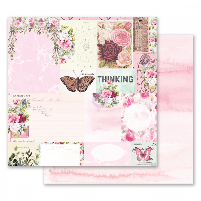Misty Rose Collection - Papel Their Words For Each Other - Prima Marketing