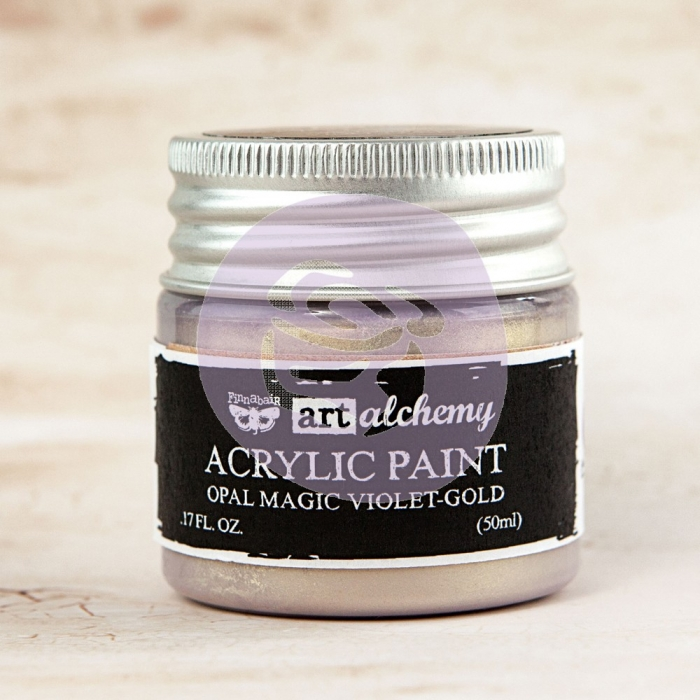 Tinta Acrílica Opal Magic Violet-Gold - Art Alchemy - Prima Marketing
