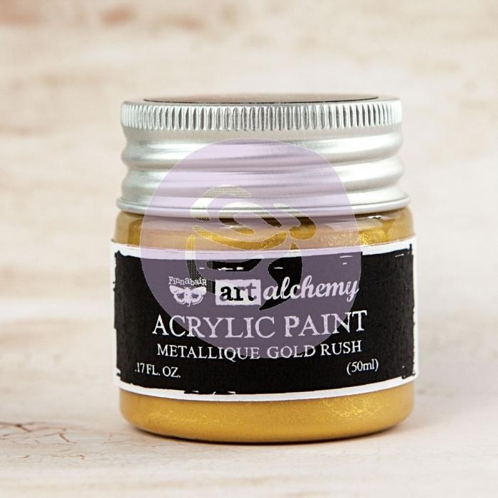 Tinta Acrílica Metálica Gold Rush - Art Alchemy - Prima Marketing