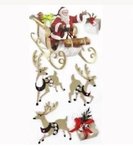 Adesivo Papai Noel e Trenó Jolee´s