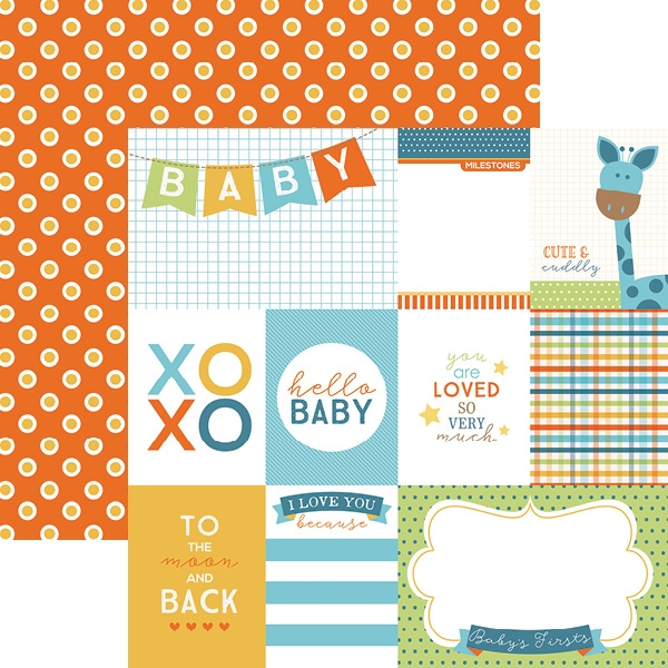 Hello Baby Azul Tags - Papel - Paper House