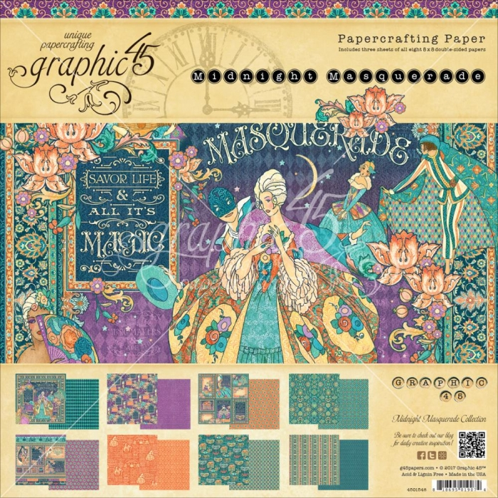 Midnight Masquerade Bloco 30,5x30,5