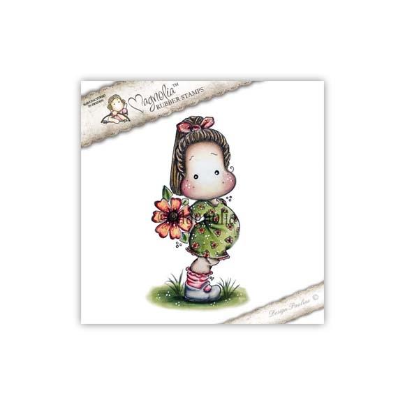 Carimbo Magnolia YB - Tilda with Big Poppy