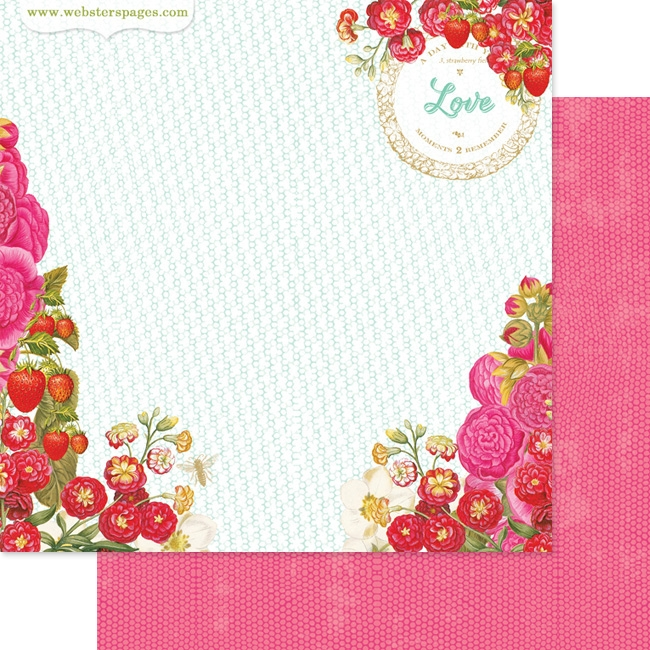 Papel Strawberry Fields Patch
