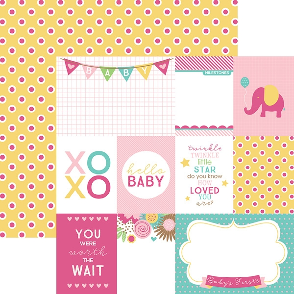 Hello Baby Rosa Tags - Papel - Paper House