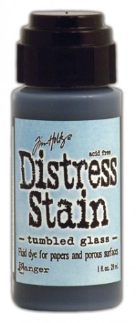 Distress Stain Tumbled Glass
