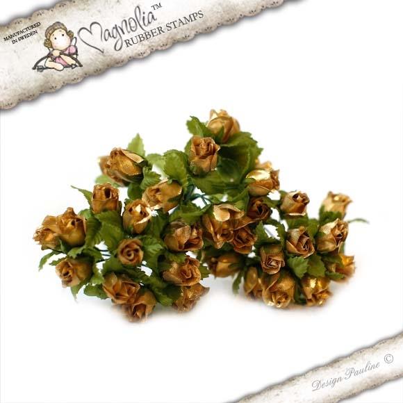 Mini Rosas Doradas Magnolia Stamp - Golden