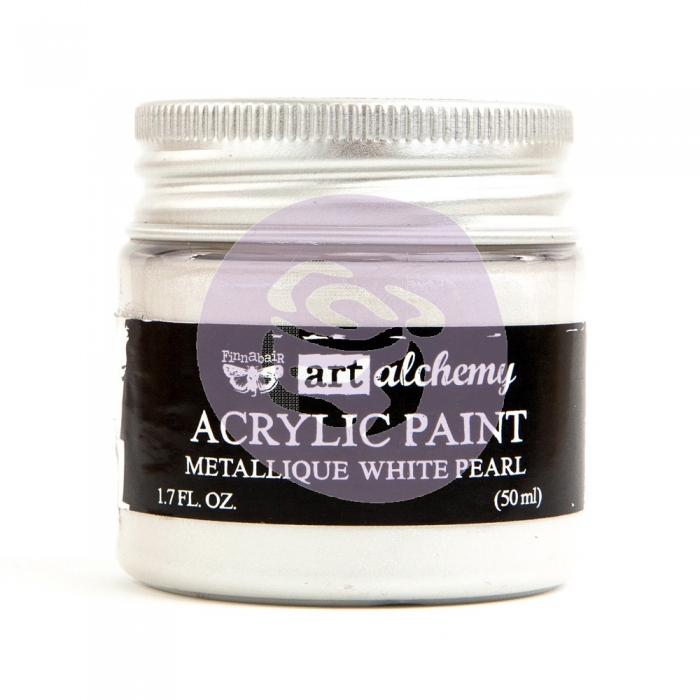 Tinta Acrílica Metálica White Pearl - Art Alchemy - Prima Marketing