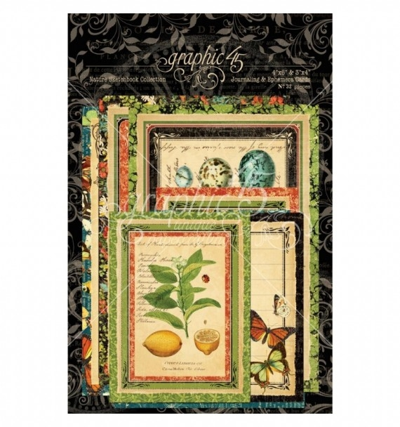 Papel Graphic 45 Nature - Journaling & Ephemera Cards