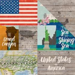 Papel Estados Unidos Around The World