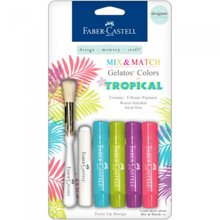 Gelatos Faber Castell Mix 4 Tons Tropical