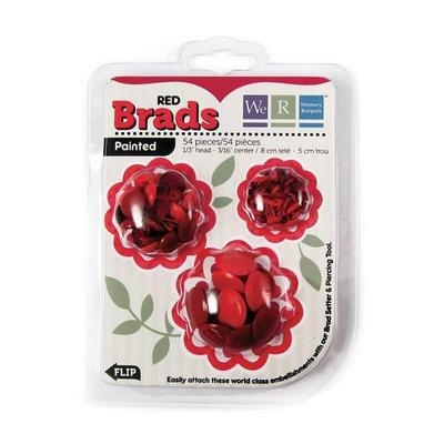 Bailarinas Painted Brads Red 54/Pkg - We R