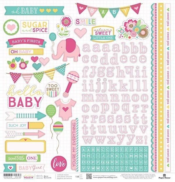 Hello Baby Rosa - Adesivos - Paper House