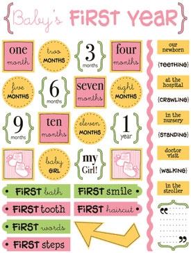 Adesivo Life Baby´s First Year / Bebê Menina