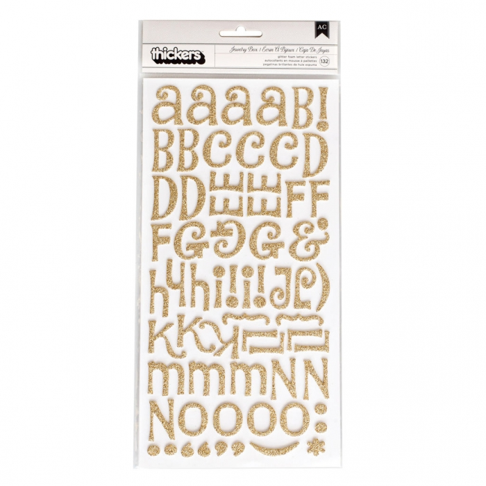 Alfabeto Thickers Jewelry Box Ouro c/Glitter