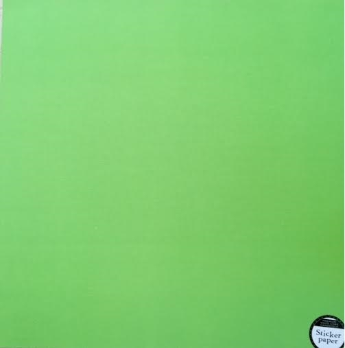 Papel Cardstock Adesivo Apple Green