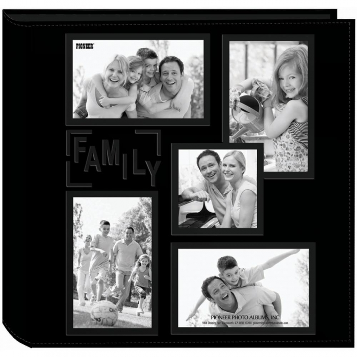 Álbum Family / Família Couro Preto