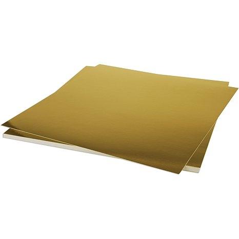 Papel Cardstock Foil / Laminado Ouro