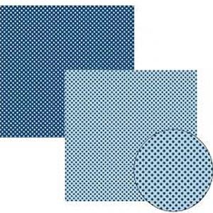 Papel TEC Azul Marinho Poá Pequeno