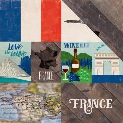 Papel França Around The World