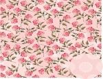 Papel Floral Chique Rosa