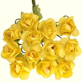 Mini Rosinhas de Papel Amarela