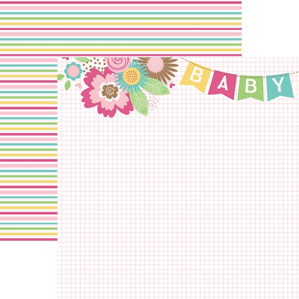 Hello Baby Rosa Banner - Papel - Paper House
