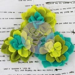 Prima Flowers Poppies & Peonies - Verde em Feltro