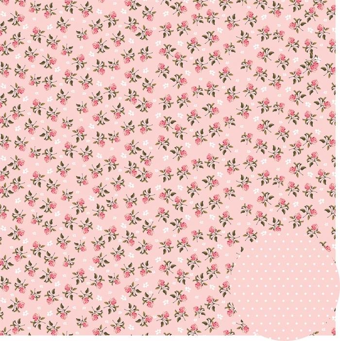 Papel Floral Chique Rosa Mini