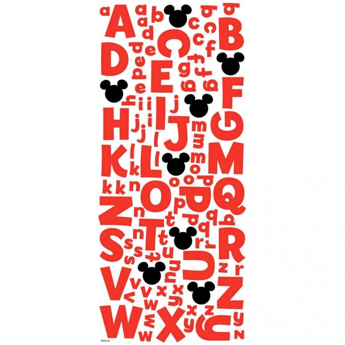 Adesivo Alfabeto Glitter Mickey