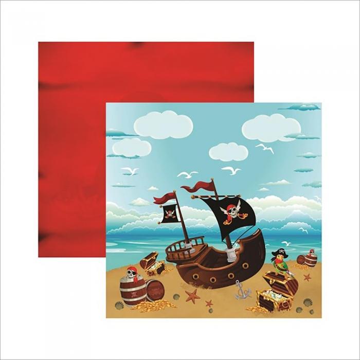 Papel Piratas Paisagem