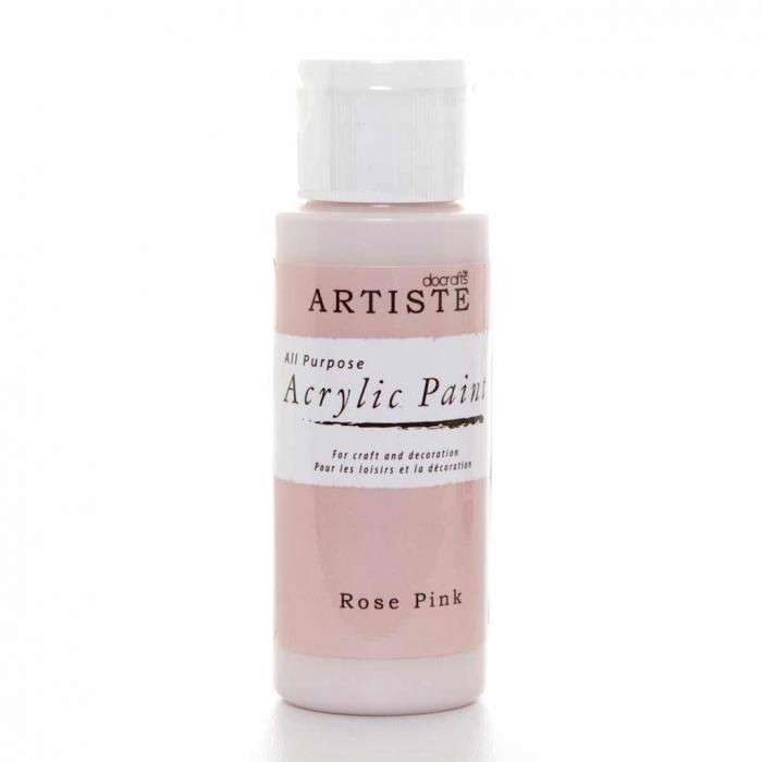 Tinta Acrílica Metálica Rose Pink - Artiste
