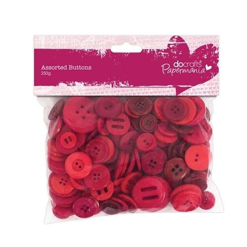 Botões Vermelhos  - Vários Tons e Tamanhos