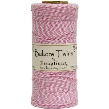 Bakers Twine Rosa Claro e Branco