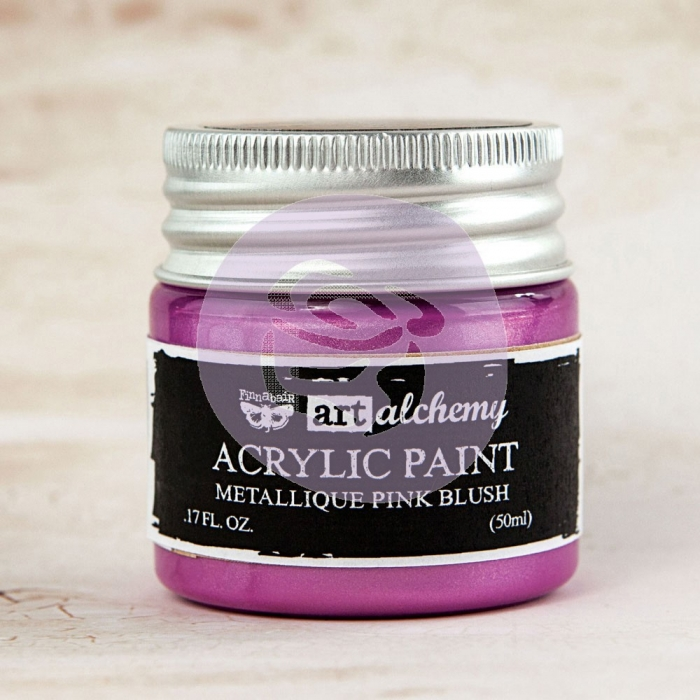 Tinta Acrílica Metálica Pink Blush - Art Alchemy - Prima Marketing