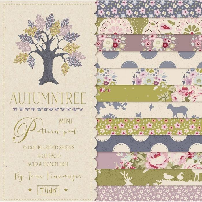 Paper Pad 15 x 15 Tilda (Bloco de Papel) - Autumn Tree