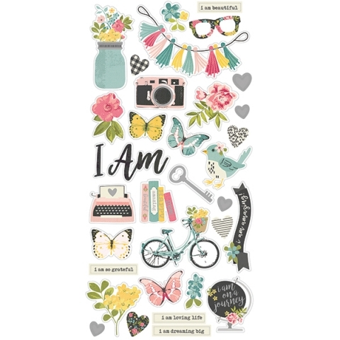 Chipboard I Am - Simple Stories