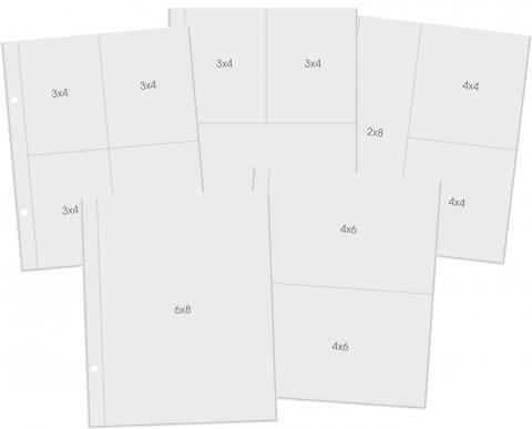 Sn@p Pocket Pages - Variados 6x8 - Refil Plástico P? Álbum - Simple Stories