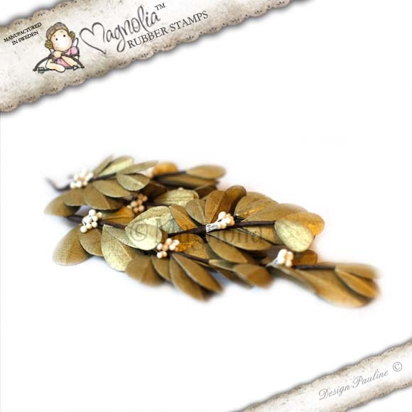 Folhas Magnolia Stamp - Golden Mistletoe - Dourada