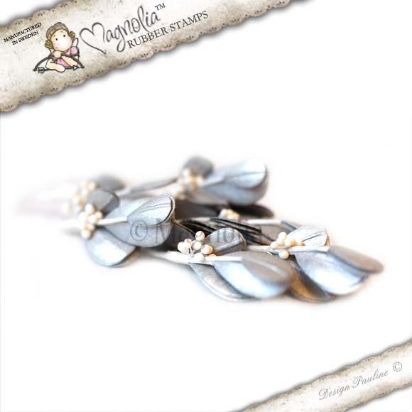 Folhas Magnolia Stamp - Silvery Mistletoe - Prataeada