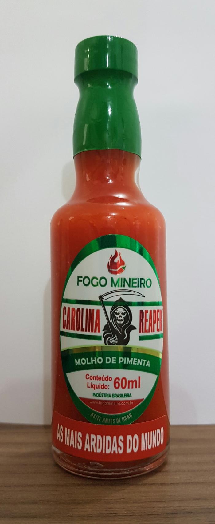 MOLHO DE PIMENTA CAROLINA REAPER 60ML ( A NUCLEAR)
