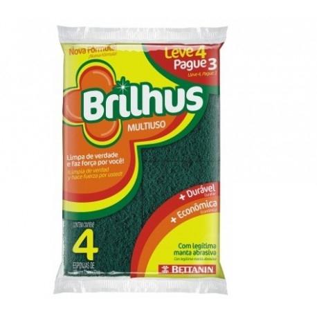 Esponja louca c/4 Brilhus