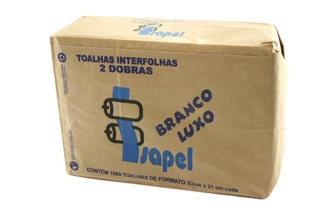 Toalhas interfolhas 2d Branco Luxo Com 1000 22x20,5cm Isapel