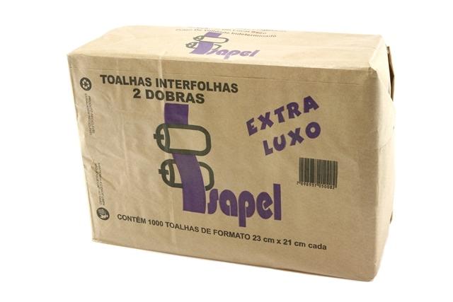 Toalhas interfolhas 2d Extra Luxo 22x20,5cm 1000un Isapel