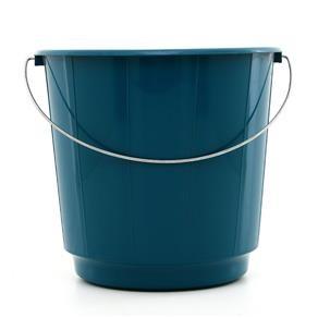 Balde de Plastico Vermelho/Azul 10L