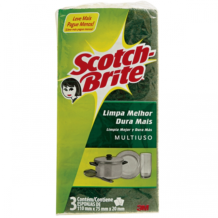 Esponja Scotch Brite multiuso 3M c/3 und