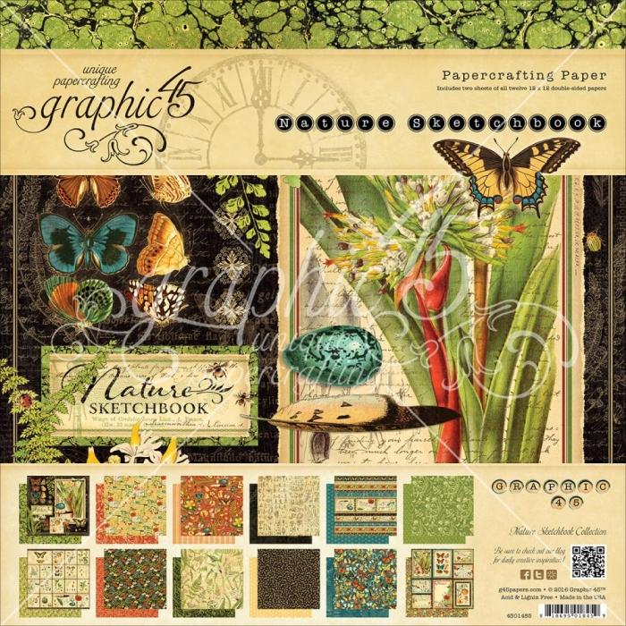Bloco Papel 12 x 12 Coleção Nature Graphic 45