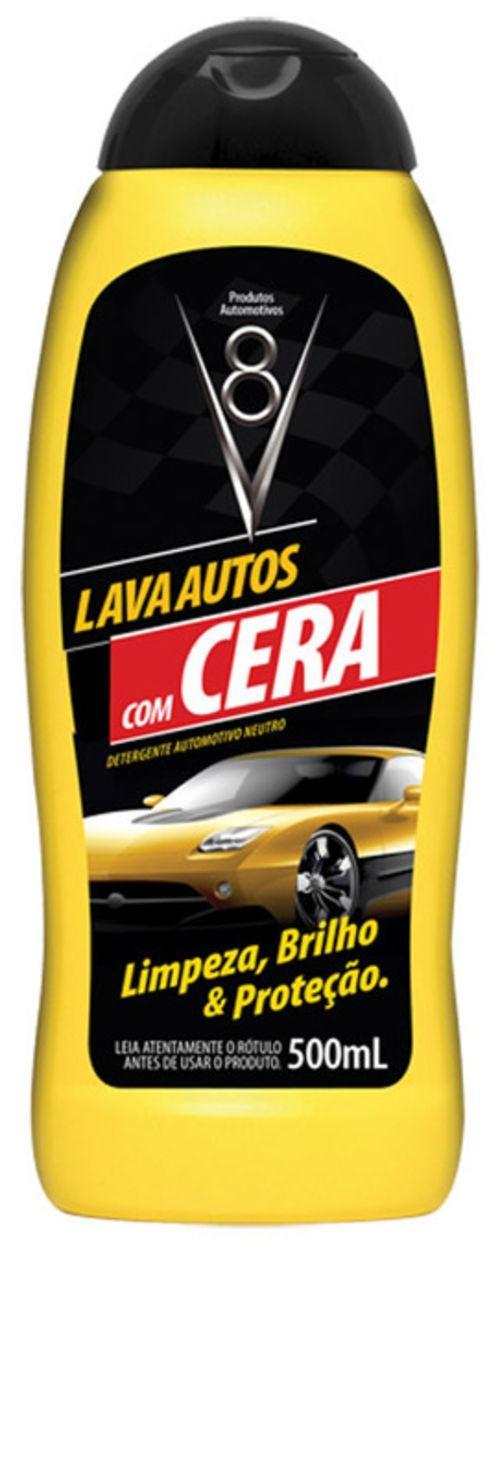 Lava autos com cera V8